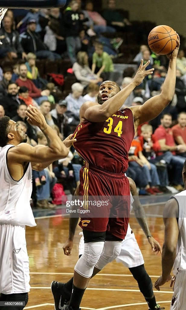 Arinze Onuaku from the Canton Charge shoots over Khem Birch from the Sioux Falls Skyforce in the first half of their NBA DLeague game February 6 2015...