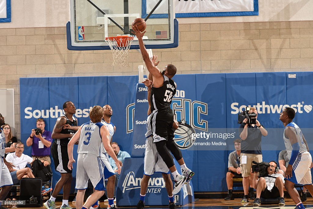 Arinze Onuaku of Magic White shoots the ball against the Magic White on July 6 2016 during Summer League at the Amway Center in Orlando Florida NOTE...