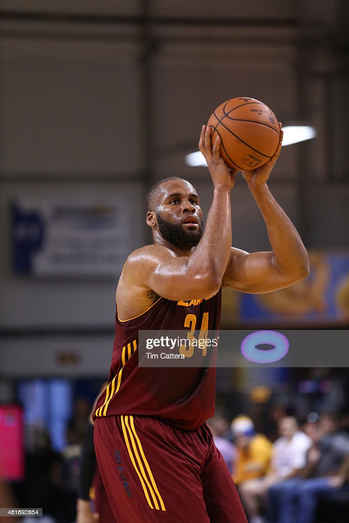 Arinze Onuaku of the Canton Charge shoots a free throw against the Austin Spurs during the consolation game at the NBA DLeague Showcase game on...