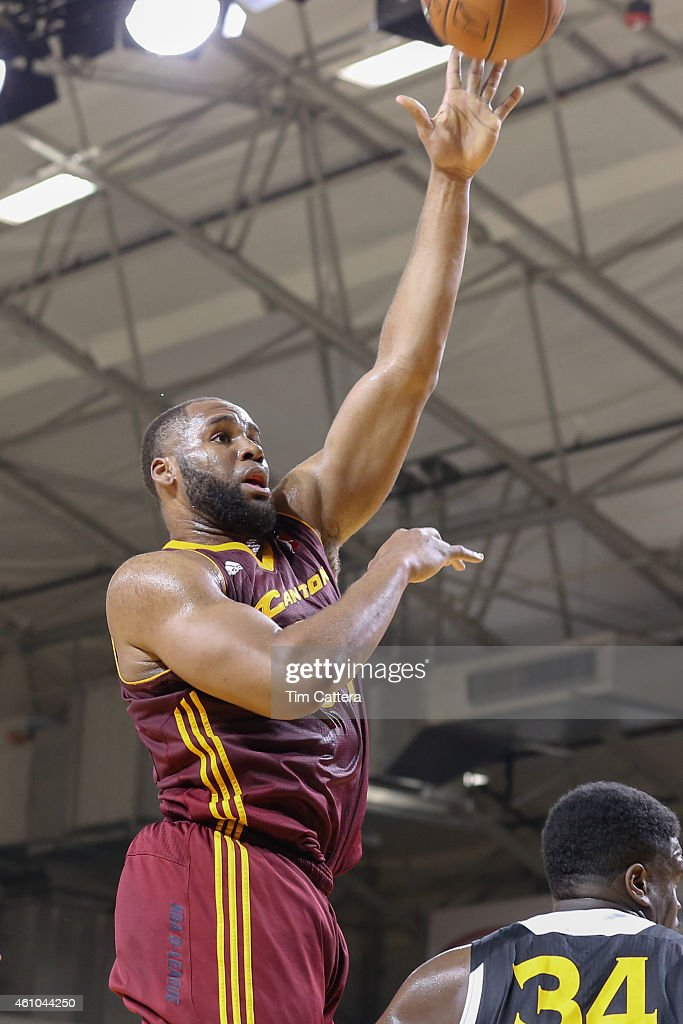 Arinze Onuaku of the Canton Charge shoots a layup against the Santa Cruz Warriors during an NBA DLeague game on January 2 2015 at Kaiser Permanente...