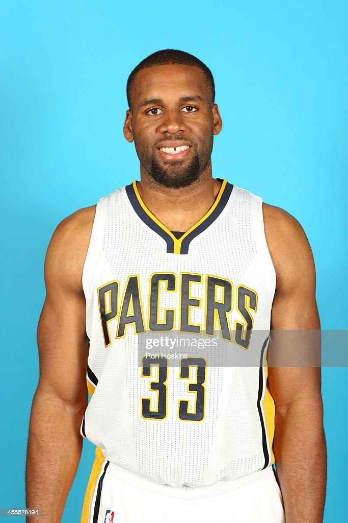 Arinze Onuaku of the Indiana Pacers during the Pacers media day at Bankers Life Fieldhouse on September 29 2014 in Indianapolis Indiana NOTE TO USER...