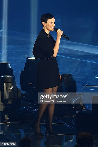 Arisa appears on X Factor Italia Tv Show on December 11 2014 in Milan Italy
