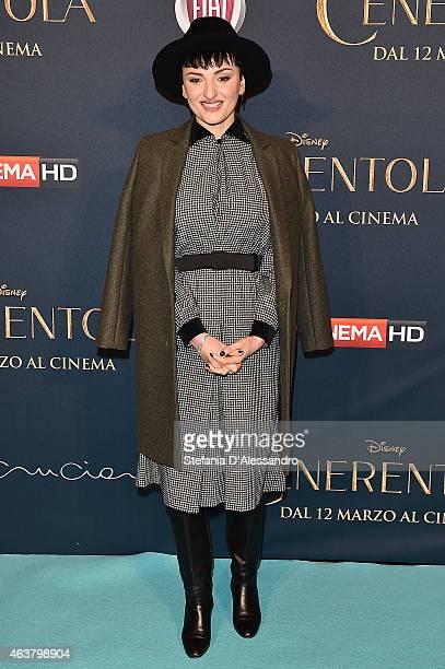 Arisa attends 'Cinderella' Screening held at Cinema Odeon on February 18 2015 in Milan Italy