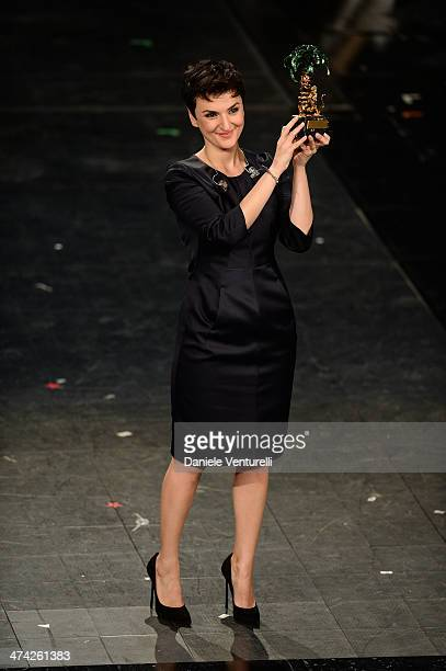 Arisa attends closing night of the 64th Festival di Sanremo 2014 at Teatro Ariston on February 22 2014 in Sanremo Italy