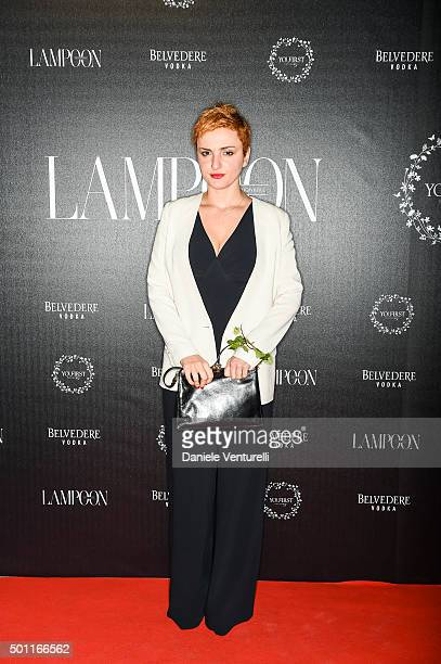 Arisa attends Lampoon First Birthday Event on December 12 2015 in Milan Italy