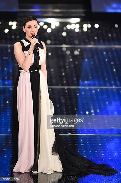 Arisa attends second night 65th Festival di Sanremo 2015 at Teatro Ariston on February 11 2015 in Sanremo Italy