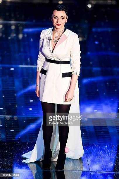 Arisa attends the Fourth night of 65th Festival di Sanremo 2015 at Teatro Ariston on on February 13 2015 in Sanremo Italy