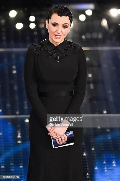 Arisa attends the fourth night of 65th Festival di Sanremo 2015 at Teatro Ariston on February 13 2015 in Sanremo Italy