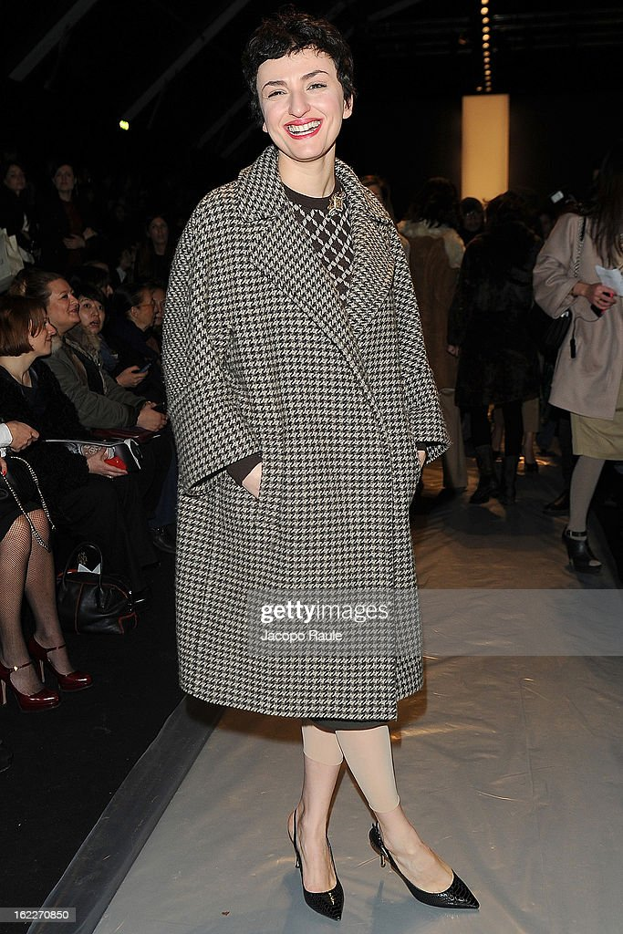 Arisa attends the Max Mara fashion show during Milan Fashion Week Womenswear Fall/Winter 2013/14 on February 21, 2013 in Milan, Italy.