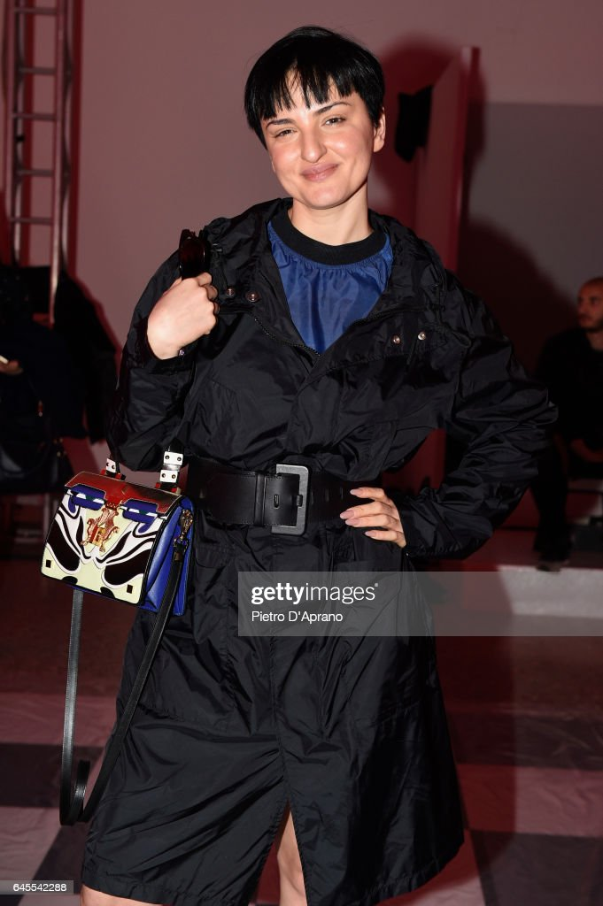 Arisa attends the MSGM show during Milan Fashion Week Fall/Winter 2017/18 on February 26, 2017 in Milan, Italy.