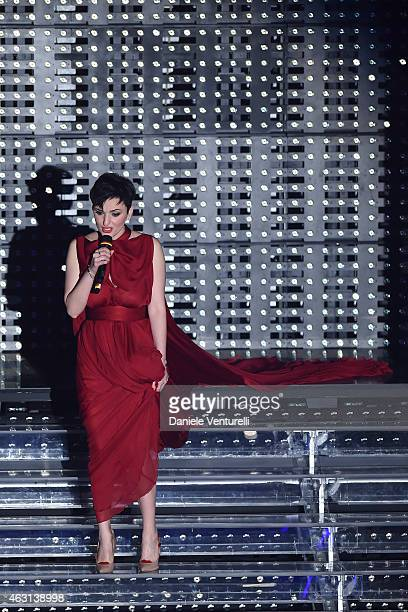 Arisa attends the opening night of the 65th Festival di Sanremo 2015 at Teatro Ariston on February 10 2015 in Sanremo Italy