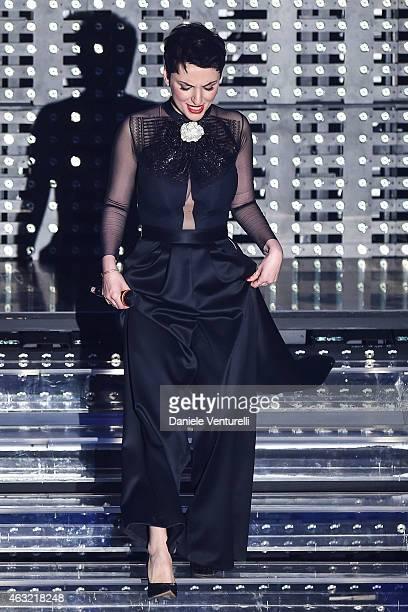 Arisa attends the second night of the 65th Festival di Sanremo 2015 at TeatroAriston on February 11 2015 in Sanremo Italy