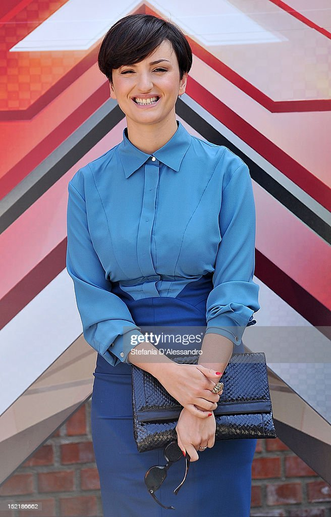 Arisa attends X Factor 2012 Press Conference on September 17, 2012 in Milan, Italy.
