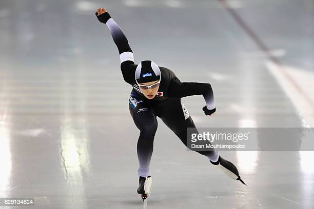 Arisa Go of Japan competes in the 1000m Ladies race on Day Three of the Speed Skating ISU World Cup on December 11 2016 in Heerenveen Netherlands
