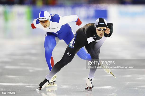 Arisa Go of Japan competes in the Division A Ladies 1000 meter during ISU World Cup Speed Skating Day 3 on December 11 2016 in Heerenveen Netherlands