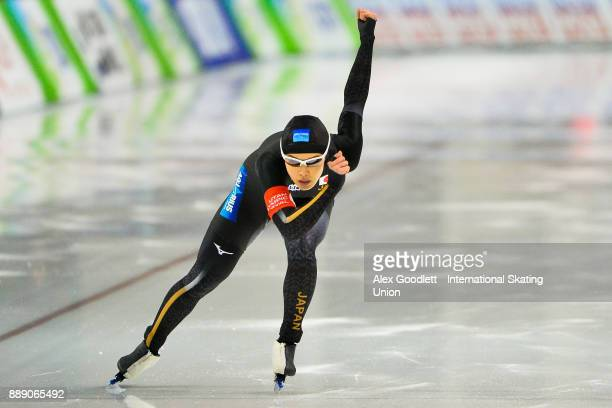 Arisa Go of Japan competes in the ladies 500 meter race during day 2 of the ISU World Cup Speed Skating event on December 9 2017 in Salt Lake City...