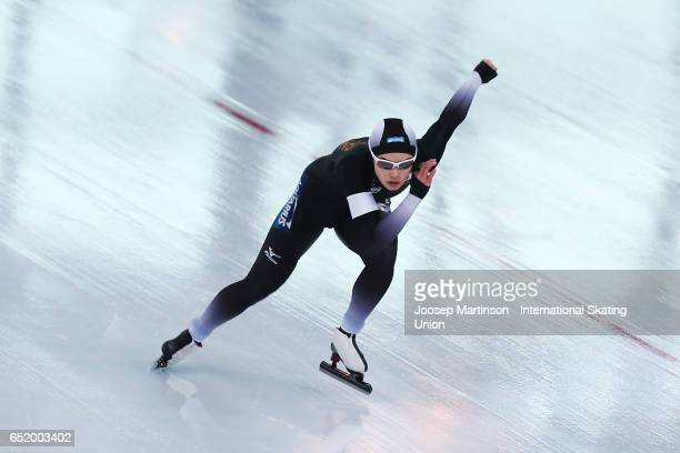 Arisa Go of Japan competes in the Ladies 500m during day 1 of the ISU World Cup Speed Skating at Soermarka Arena on March 11 2017 in Stavanger Norway