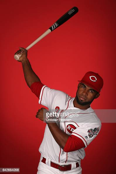 Arismendy Alcantara of the Cincinnati Reds poses for a portait during a MLB photo day at Goodyear Ballpark on February 18 2017 in Goodyear Arizona