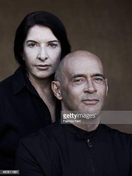 Arist Marina Abramovic and Serge Le Borgne director of the Marina Abramovic Institute are photographed for Self Assignment on September 29 in Hudson...