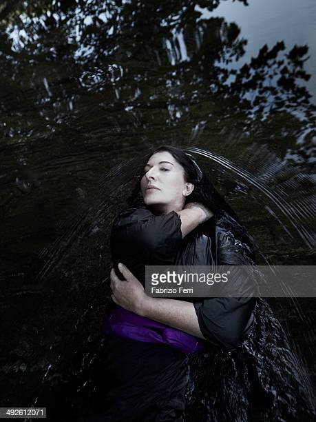 Arist Marina Abramovic is photographed for Self Assignment on September 29 in Hudson New York