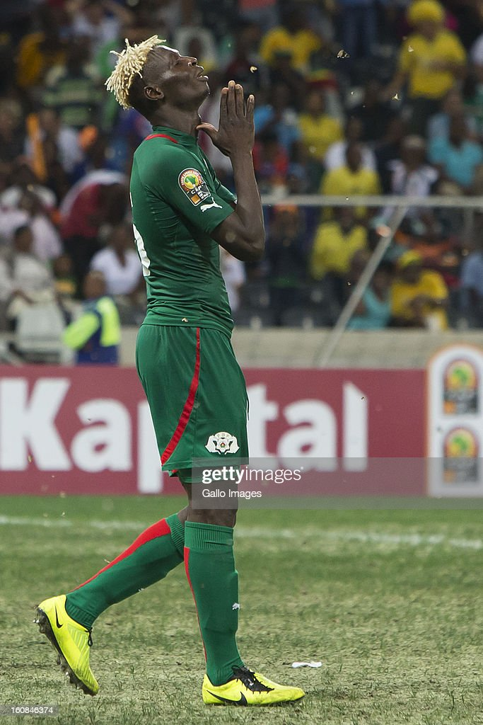 Aristide Bance from Burkina Faso during the 2013 Orange African Cup of Nations 2nd Semi Final match between Burkina Faso and Ghana at Mbombela Stadium on February 06, 2013 in Nelspruit, South Africa.