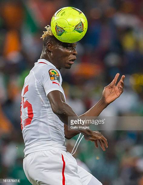 Aristide Bance of Burkina Faso in action during the 2013 Orange African Cup of Nations Final match between Nigeria and Burkina Faso from the National...