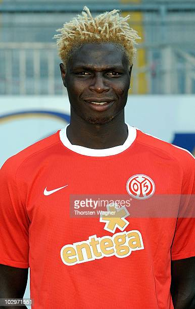 Aristide Bance poses during the FSV Mainz 05 team presentation at Bruchweg stadium on July 19 2010 in Mainz Germany