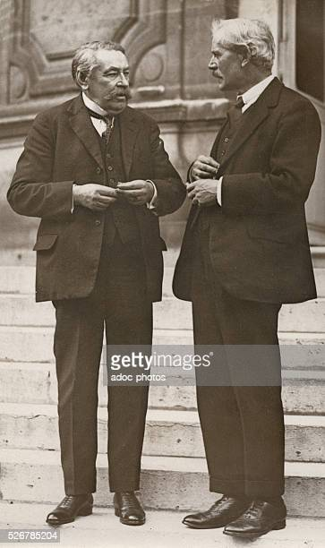 Aristide Briand and James Ramsay MacDonald in Paris In August 1929