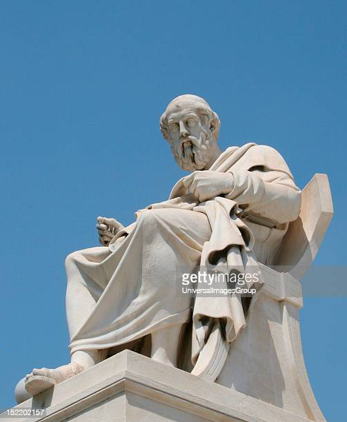 Aristotle Classical Greek Philosopher A student of Plato and teacher of Alexander the Great Statue of Aristotle at the Athens Academy Athens Central...
