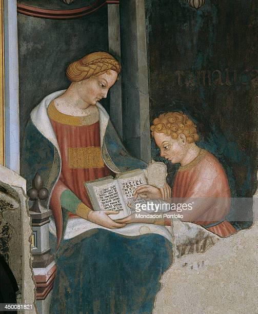Arithmetic by a collaborator of Gentile di Niccolò known as Gentile da Fabriano 1407 1410 15th Century fresco