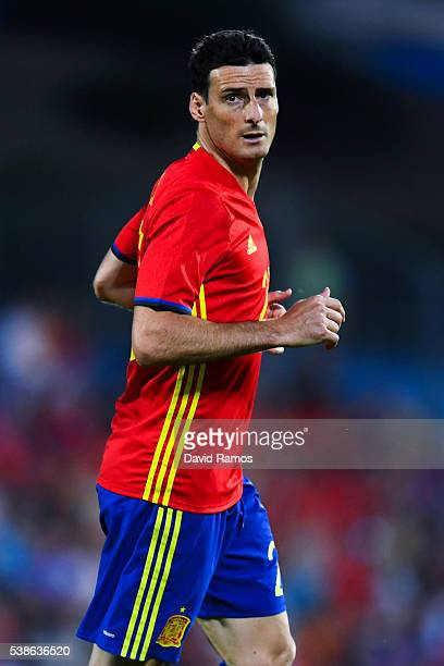 Aritz Aduritz of Spain looks on during an international friendly match between Spain and Georgia at Alfonso Perez stadium on June 7 2016 in Getafe...