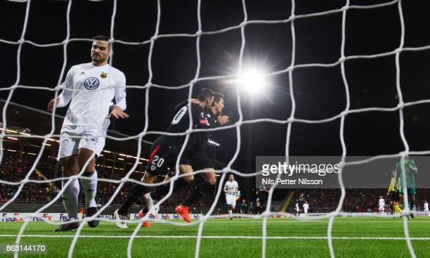 Aritz Aduriz of Athletic Bilbao celebrates after scoring to 01 during the UEFA Europa League group J match between Ostersunds FK and Athletic Bilbao...