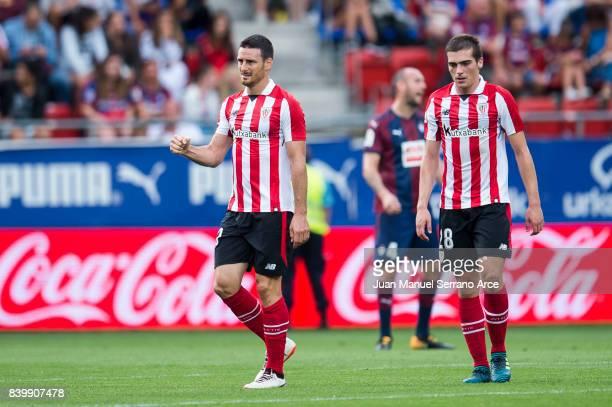 Aritz Aduriz of Athletic Club celebrates after scoring goal during the La Liga match between Eibar and Athletic Club at Estadio Municipal de Ipurua...