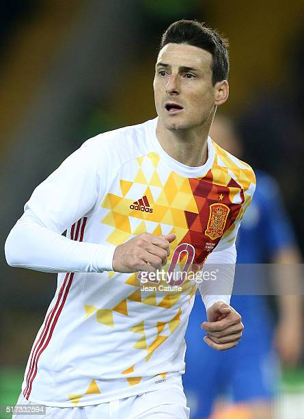Aritz Aduriz of Spain looks on during the international friendly match between Italy and Spain at Stadio Friuli on March 24 2016 in Udine Italy
