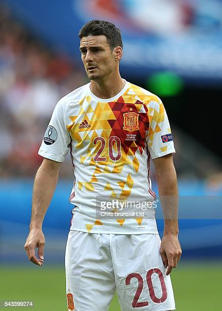 Aritz Aduriz of Spain looks on during the UEFA Euro 2016 Round of 16 match between Italy and Spain at Stade de France on June 27 2016 in Paris France