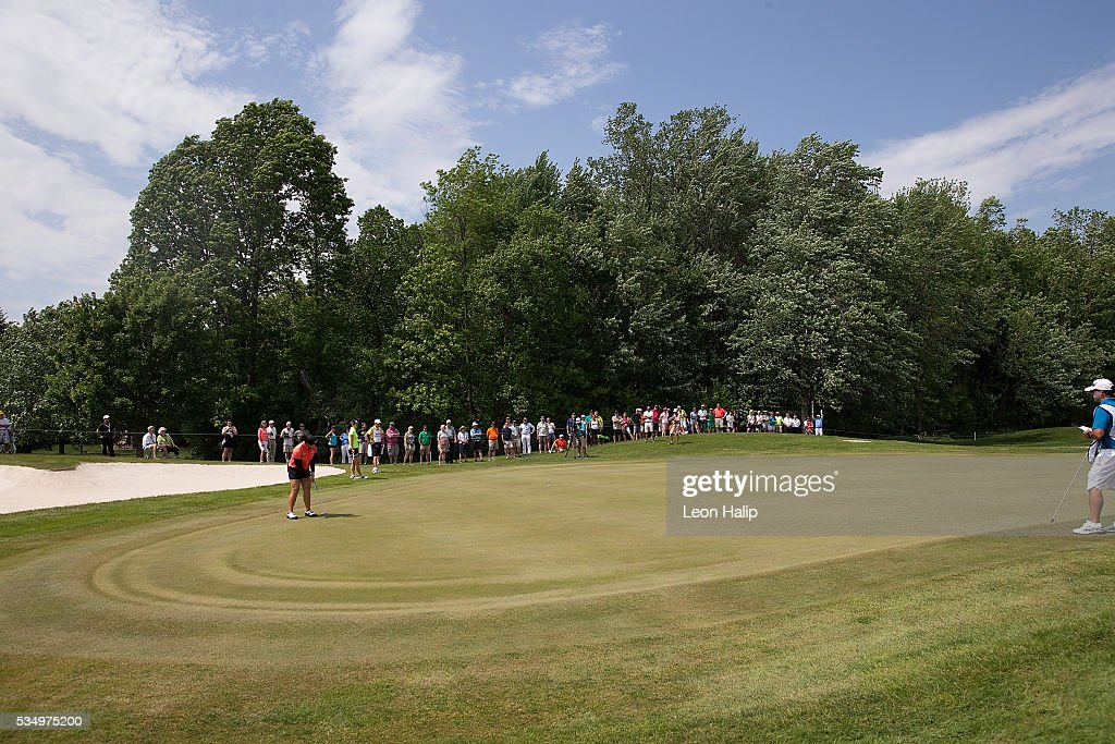 <a gi-track='captionPersonalityLinkClicked' href=/galleries/search?phrase=Ariya+Jutanugarn&family=editorial&specificpeople=6750591 ng-click='$event.stopPropagation()'>Ariya Jutanugarn</a> from Thailand putts on the fifth hole during the third round of the LPGA Volvik Championship on May 28, 2016 at Travis Pointe Country Club Ann Arbor, Michigan.