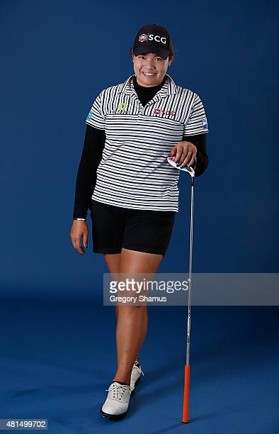 Ariya Jutanugarn of Thailand poses for a portrait prior to the Meijer LPGA Classic presented by Kraft at Blythefield Country Club on July 21 2015 in...