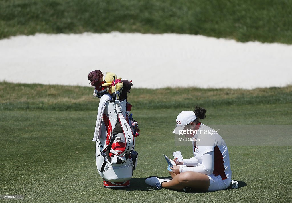 Ariya Jutanugarn of Thailand waits to hit on the eighth hole during the second round of the Yokohama Tire Classic on May 06, 2016 in Prattville, Alabama.