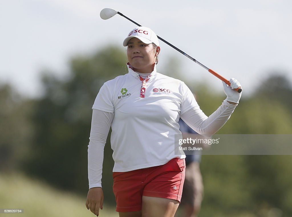 <a gi-track='captionPersonalityLinkClicked' href=/galleries/search?phrase=Ariya+Jutanugarn&family=editorial&specificpeople=6750591 ng-click='$event.stopPropagation()'>Ariya Jutanugarn</a> of Thailand watches her tee shot on the third hole during the Yokohama Tire Classic on May 05, 2016 in Prattville, Alabama.