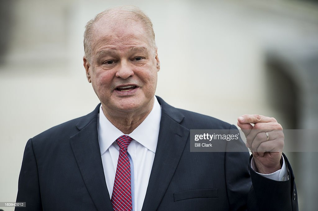 Arizona Attorney General Tom Horne speaks to the media following the Supreme Court oral arguments in the Arizona v. Inter Tribal Council of Arizona case on Monday, March 18, 2013. The case revolves around the Proposition 200, passed in 2004 by voters, which requires Arizona residents to provide proof of citizenship when registering to vote.