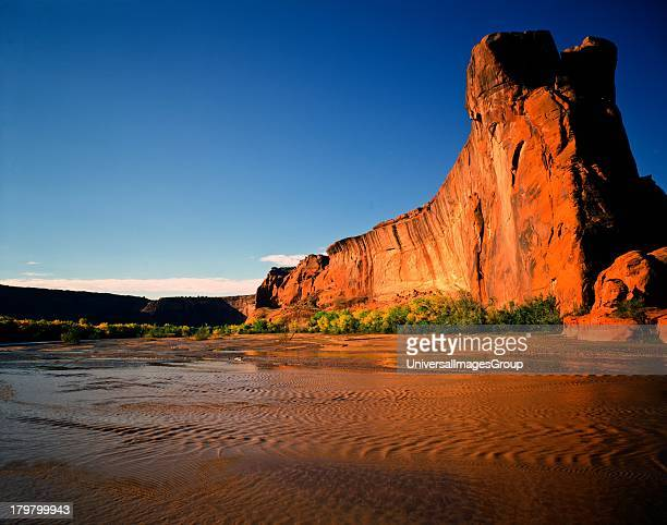 Arizona Canyon de Chelly National Monument Duck Rock in Morning Light
