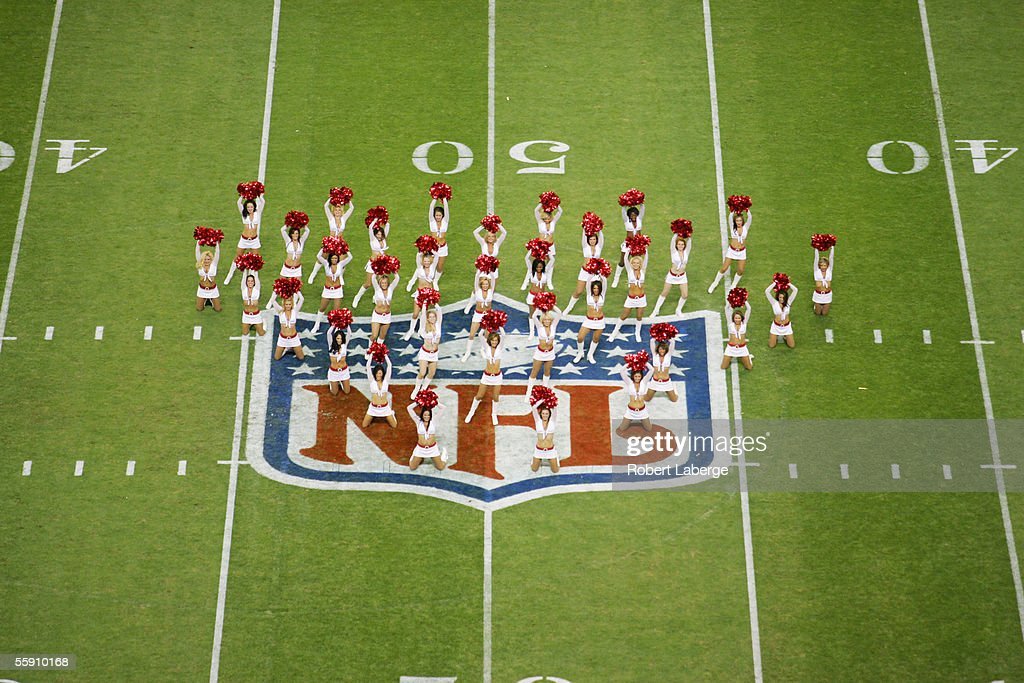 Arizona Cardinals cheerleaders perform during the game against the San Francisco 49ers at Estadio Azteca on October 2, 2005 in Mexico City, Mexico. The Cards defeated the Niners 31-14.