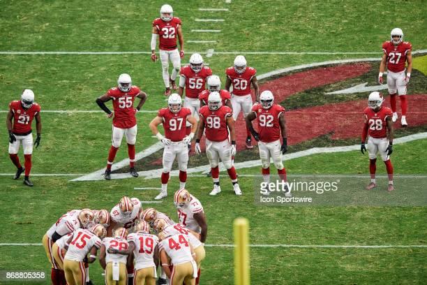 Arizona Cardinals cornerback Patrick Peterson Arizona Cardinals outside linebacker Chandler Jones Arizona Cardinals defensive end Josh Mauro Arizona...