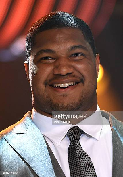 Arizona Cardinals defensive end Calais Campbell smiles during Muhammad Ali's Celebrity Fight Night XXI at the JW Marriott Phoenix Desert Ridge Resort...