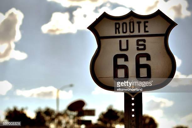 USA, Arizona, Coconino County, Route 66 road sign