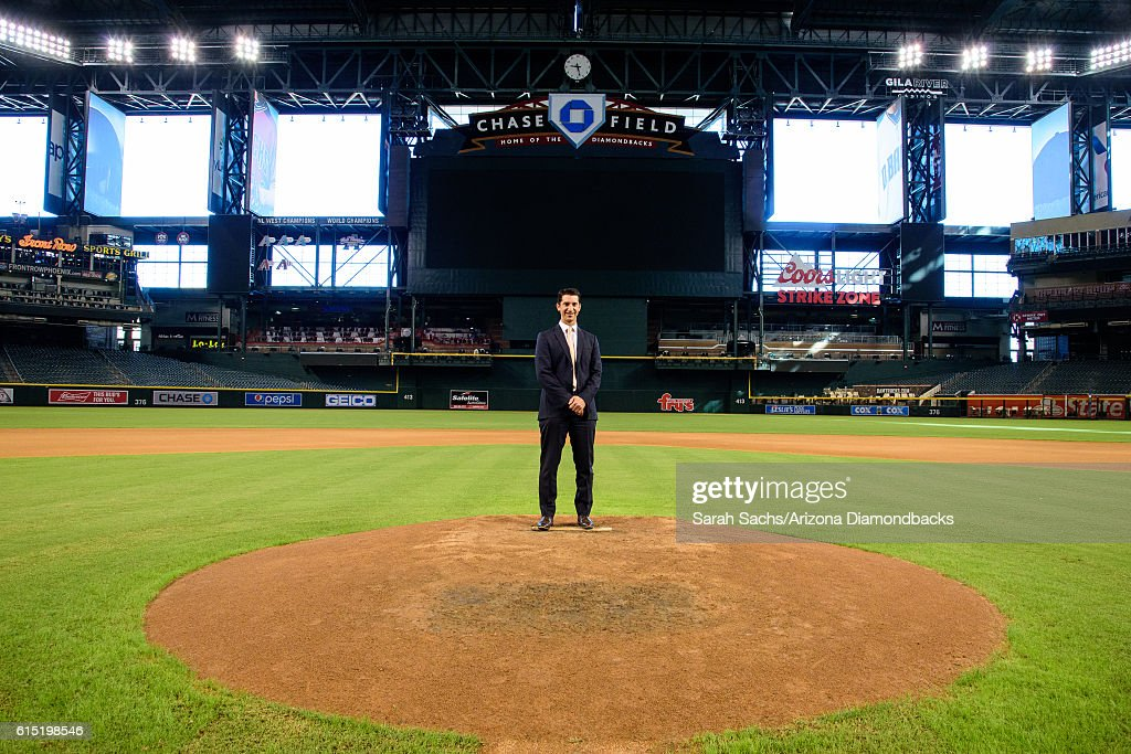 Arizona Diamondbacks General Manager, Mike Hazen, poses for a photo at Chase Field on October 17, 2016 in Phoenix, Arizona.