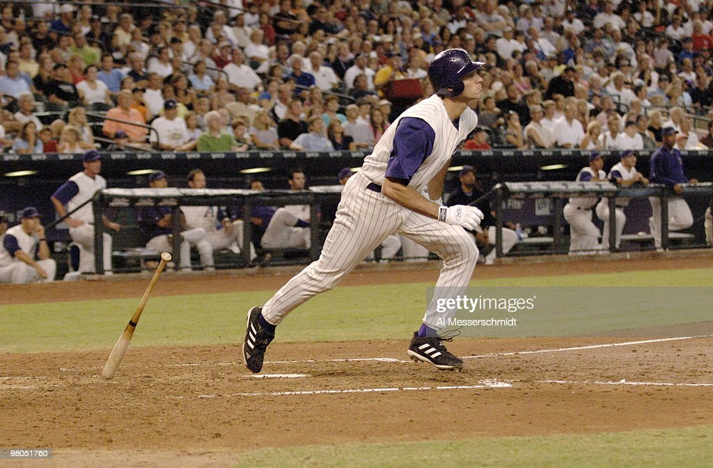 Arizona Diamondbacks outfielder Shawn Green bats against the Florida Marlins at Chase Field in Phoenix Arizona on August 13 2006