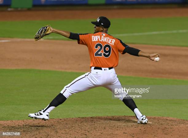 Arizona Diamondbacks prospect Jon Duplantier of Team USA pitches during the 2017 SiriusXM AllStar Futures Game at Marlins Park on July 9 2017 in...