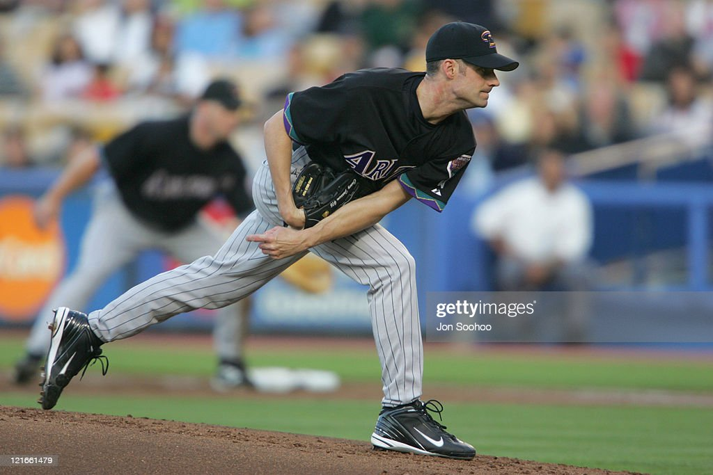 Arizona Diamondbacks starter Casey Fossum pitched five innings giving up four runs on nine hits during the 14 loss to the Los Angeles Dodgers in Los...