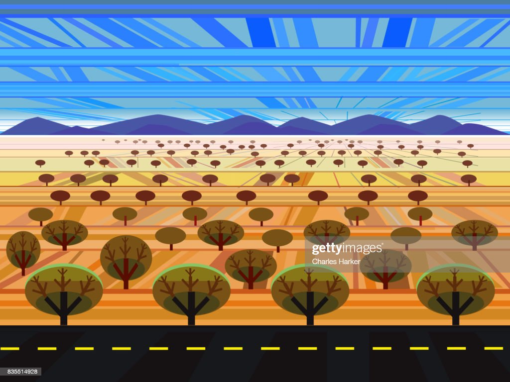Arizona geometric style landscape illustration : Stock Photo